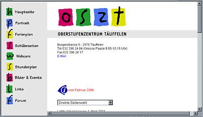 Alte Version von www.oszt.ch