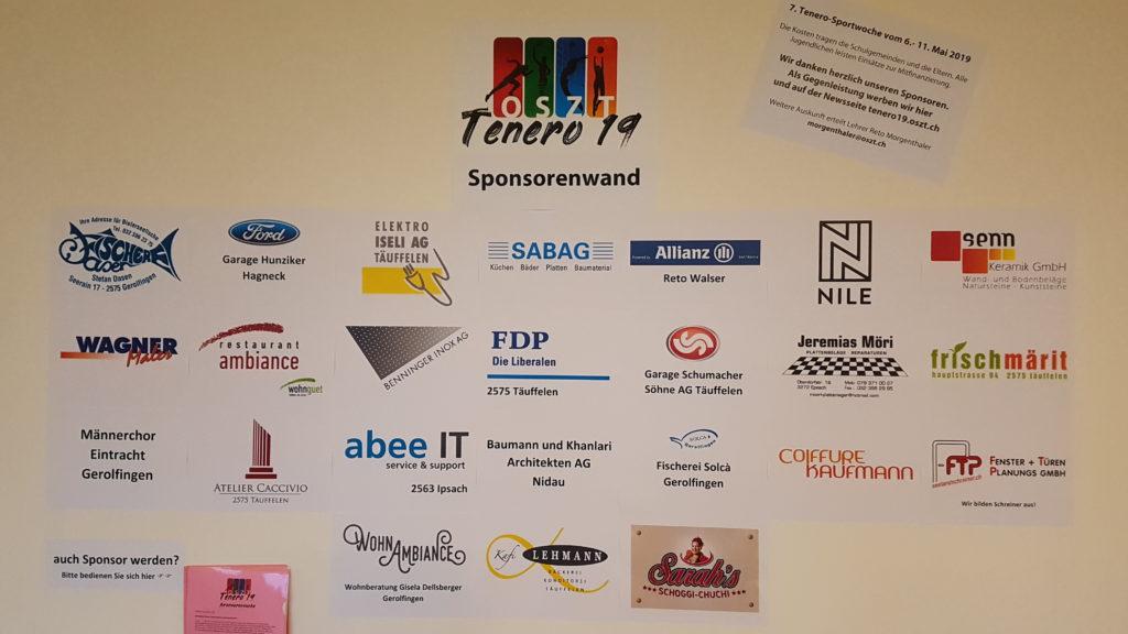 Sponsorenwand Tenero 2019