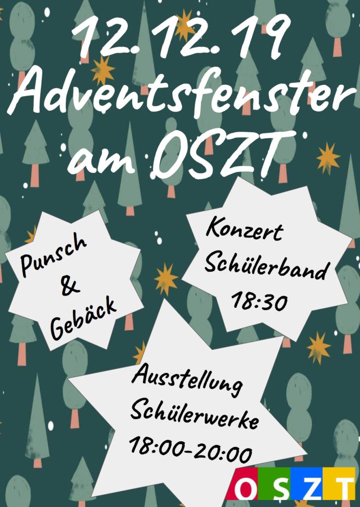 Bild Adventsfenster OSZT vom 12.12.19